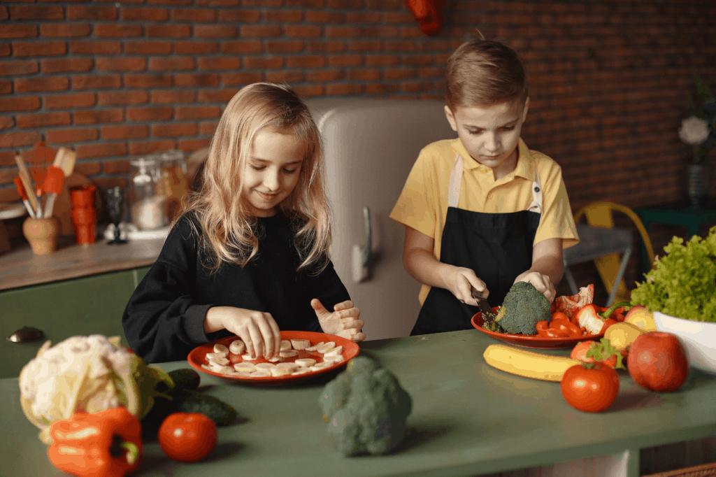 niños cocinando cocinando con niños