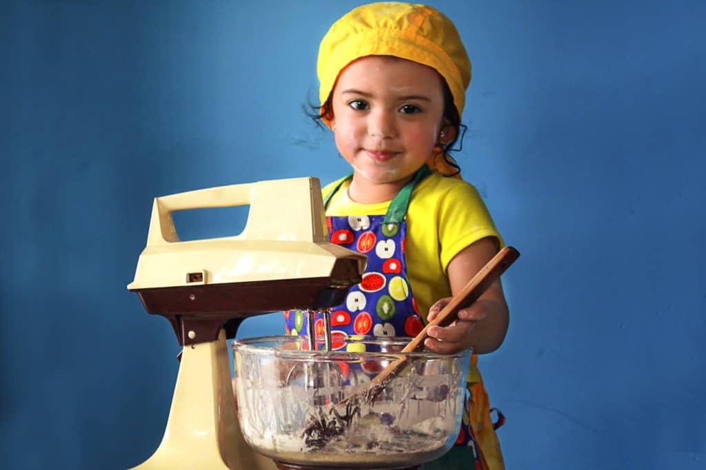 tips para fotografiar niños niña pastelera