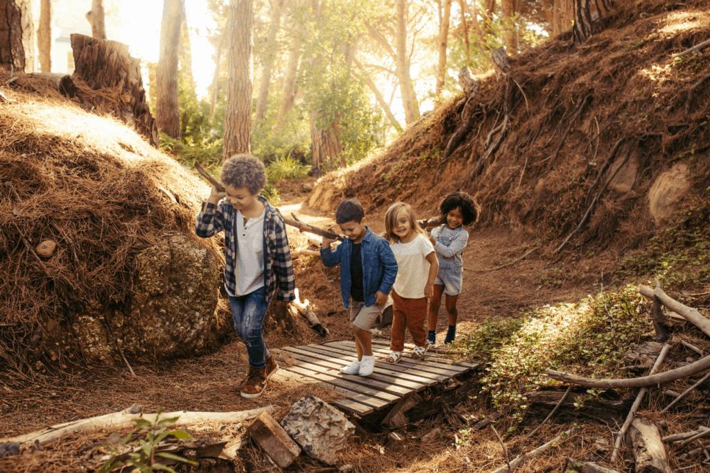 acercara los niños a la naturaleza acampar con niños