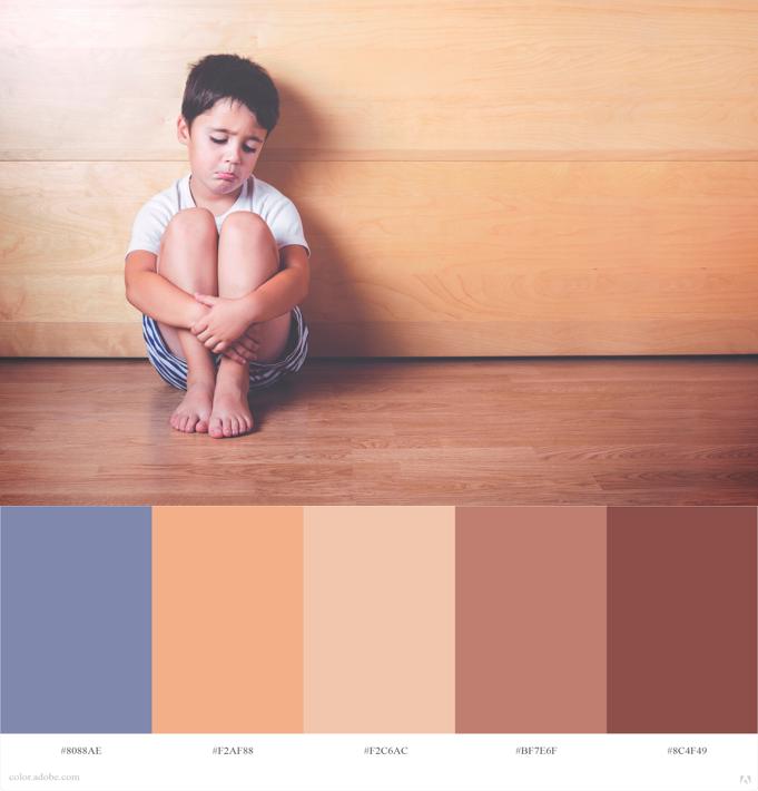 como escoger el vestuario para una sesión de fotos  paleta de color tristeza